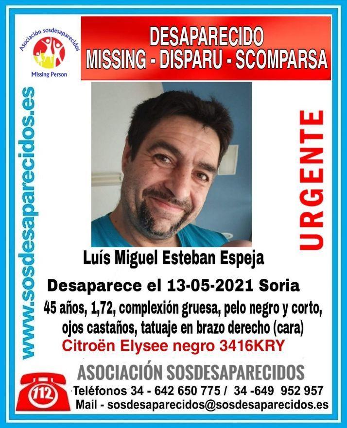 Foto 1 - Urgente: Se busca a este hombre desparecido en Soria