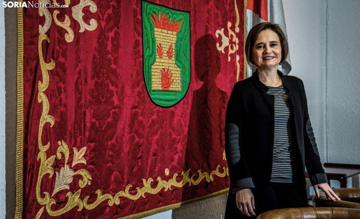 Elia Jiménez, alcaldesa de ólvega, en una imagen de archivo. /María Ferrer