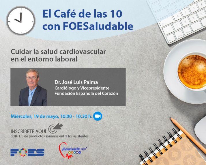 Foto 1 - El vicepresidente de la Fundación Española del Corazón, en 'El café de las 10 con FOESaludable'