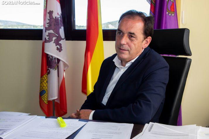 Benito Serrano, alcalde de Golmayo. /María Ferrer