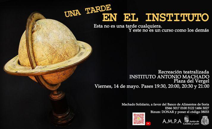 Foto 1 - El IES Machado celebra el Día Internacional de los Museos con una recreación teatralizada al aire libre