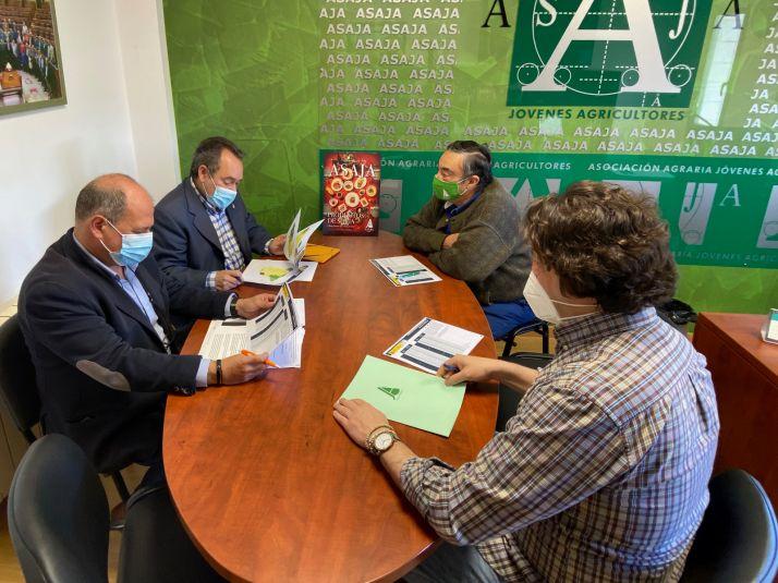 Imagen de la reunión de esta mañana./ Foto: ASAJA Soria.