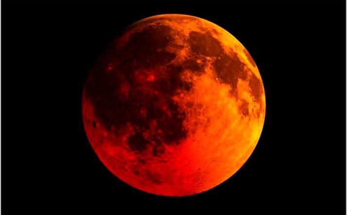 Esta luna de sangre será la primera y última del año 2021. /Meteored