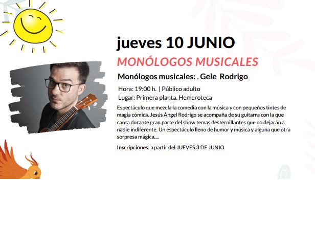 Foto 1 - Monólogos musicales