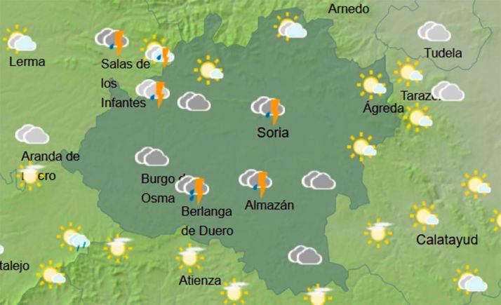 Cielo en la provincia a las 14:00, según la AEMET. /AEMET
