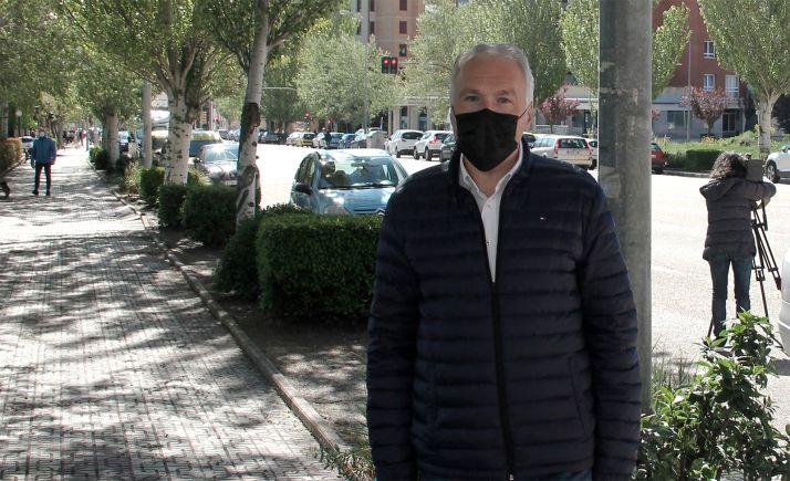 Javier Muñoz Remacha, este martes en la avenida de Valladolid.
