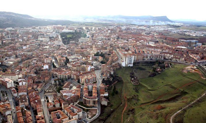Panorámica aérea de la capital.