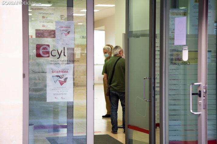 Oficina del ECYL en Soria. /María Ferrer