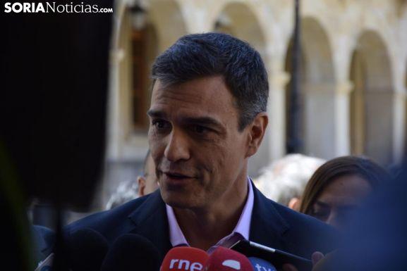 Pedro Sánchez en una visita a la capital soriana. /SN