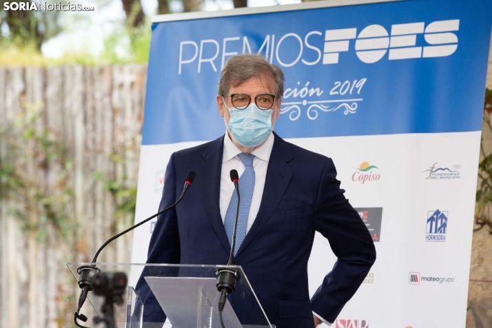 Santiago Aparicio, presidente de FOES y de CECALE. /María Ferrer.