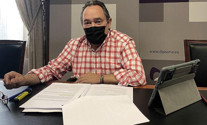 Saturnino de Gregorio, diputado de Desarrollo en el Palacio Provincial. /Dip.