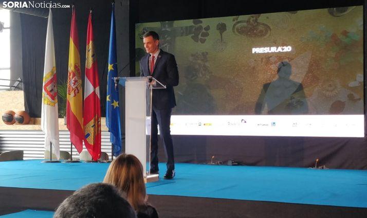 Pedro Sánchez durante su discurso en Presura.