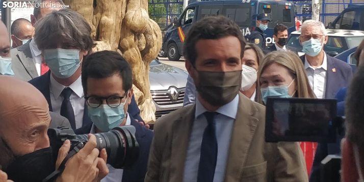 Pablo Casado, a su llegada a Presura 2020.