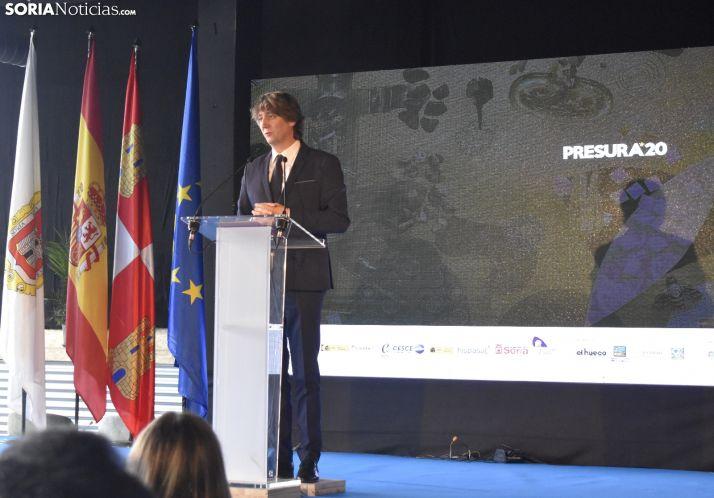 Carlos Martínez durante su discurso en Presura 2020.
