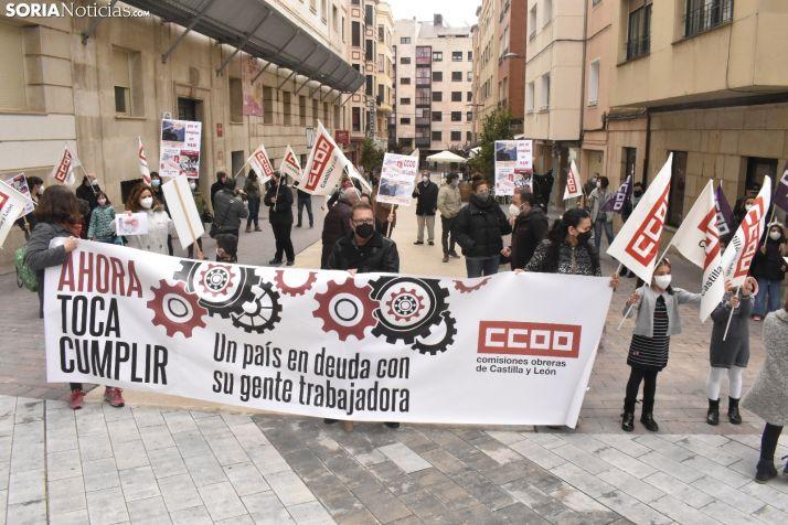 Concentración de CCOO en el 1 de Mayo.