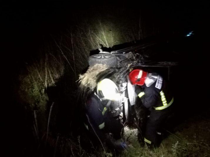 Foto 2 - Complicado accidente en Ágreda con una mujer trasladada a Soria