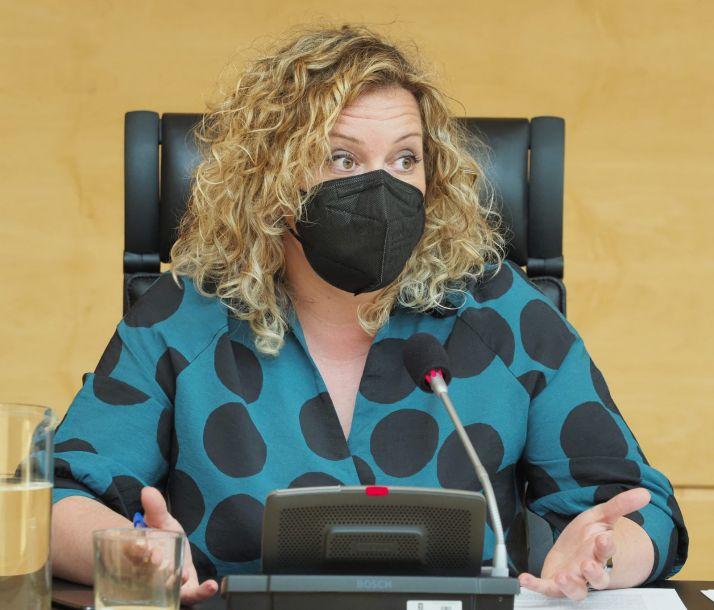 Imagen de Judith Villar en las Cortes./ Foto: PSOE.