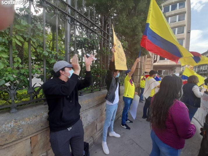 Una imagen de la concentración de este sábad en la capital. /SN
