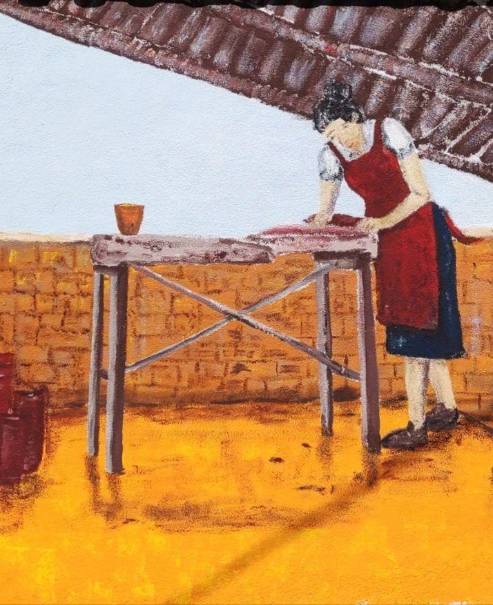 Imágenes del mural de Bayubas de Abajo.