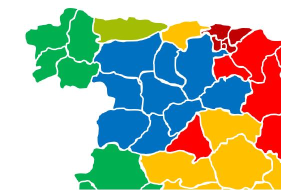 Foto 1 - Así están las restricciones y la incidencia en las comunidades limítrofes de Castilla y León