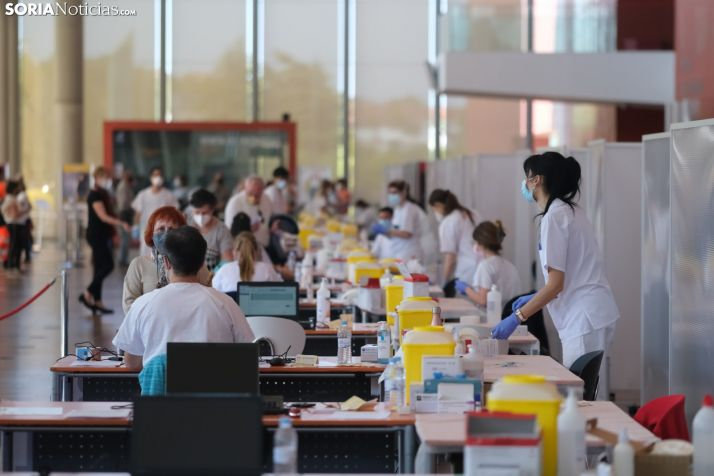 Imágen de las vacunaciones masivas en Castilla y León.