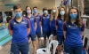 Los nadadores sorianos en Valladolid. /CNS