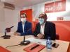 Javier Muñoz y Luis Rey durante la rueda de prensa.