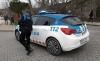 Un agente de la Policía Municipal en Soria durante un servicio en el Duero. /SN