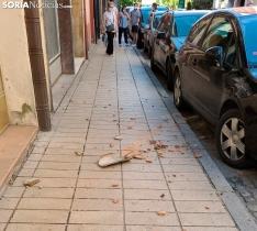 Foto 3 - Más cascotes, ahora en la avenida de Navarra