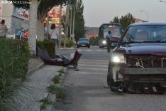 Foto 4 - Una persona herida por un accidente en la avenida de Valladolid