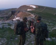 Maniobras del Regimiento de Infantería 'América' nº 66, de Cazadores de Montaña.