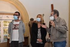 Una imagen de la visita oficial a las labores de restauración. /Jta.