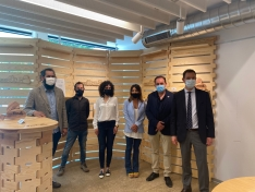 Participantes en el proyecto 'Aquí hay madera'.