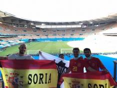 Soria con la Selección Española en Sevilla