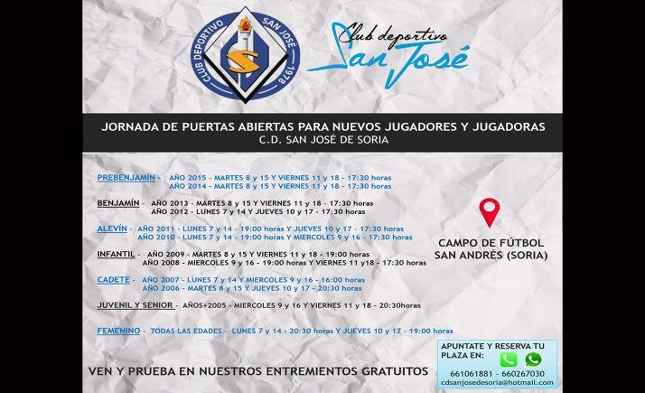 Foto 1 - El CD San José anuncia jornada de puertas abiertas