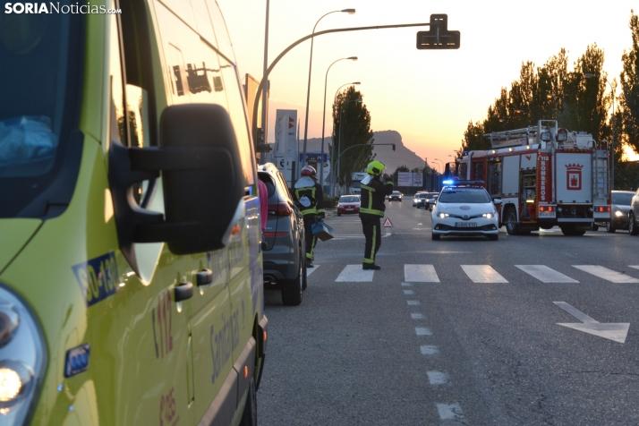 Foto 2 - Una persona herida por un accidente en la avenida de Valladolid