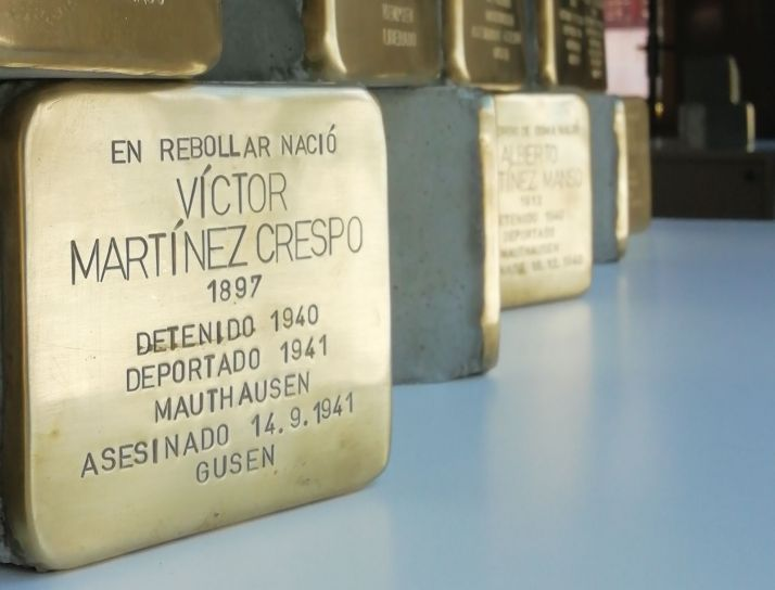 Stolpersteine homenaje a los 22 sorianos deportados a campos de concentración.