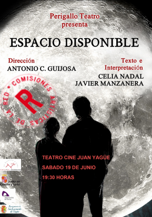 'Espacio disponible', teatro para este sábado en San Leonardo