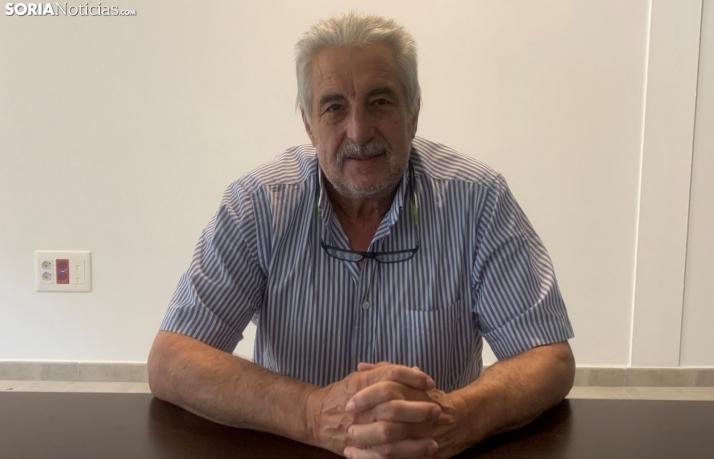 Carlos Heras en la entrevista a Soria Noticias.