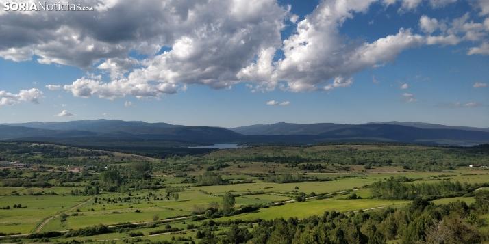 Vista del Pantano desde el Mirador de los Moros.