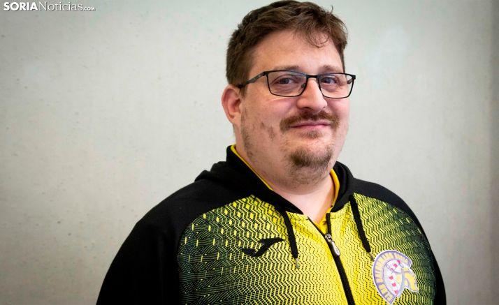 Jordi Lluelles, entrenador del BM Soria. /María Ferrer
