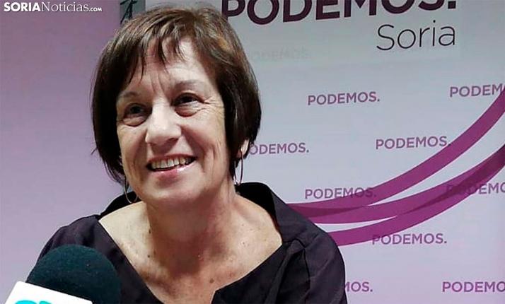 Marisa Muñoz, concejal de Podemos en el Ayuntamiento de Soria. /SN