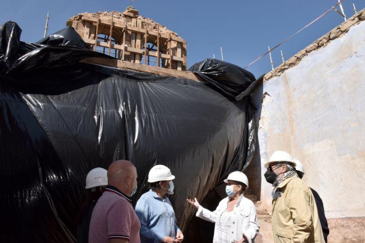 Una imagen de la visita oficial a las obras. /Jta.