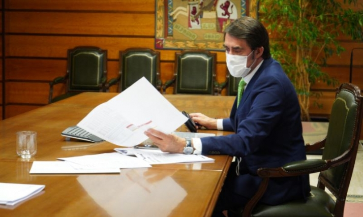 El consejero, durante la conferencia sectorial. /Jta.