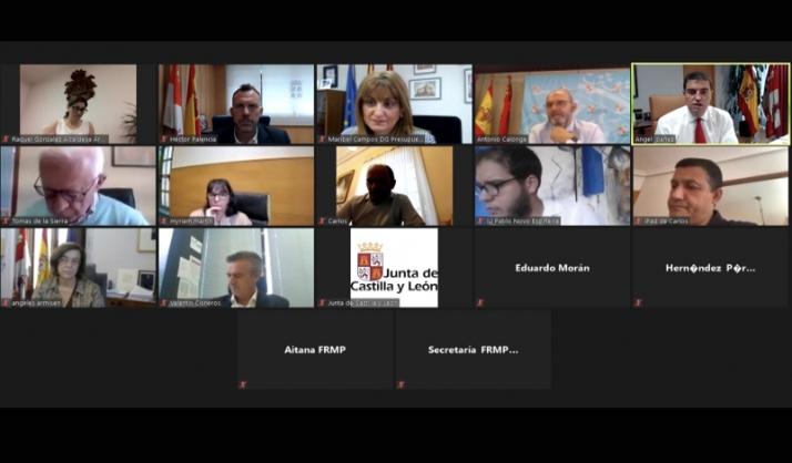 Reunión videoconferencia Mesa Corporaciones Locales. /Jta.