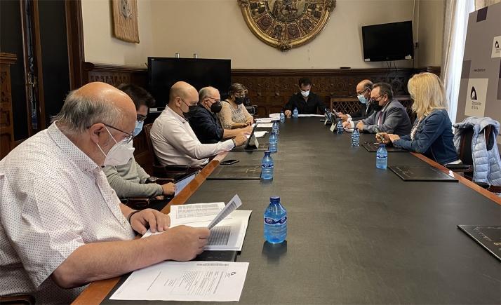 Imagen de la Comisión de Cultura, en el Palacio Provincial. /Dip.