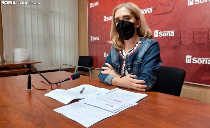 Teresa Valdenebro, responsable de área, en rueda informativa este jueves. /SN