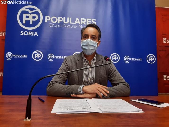Ignacio Soria durante la rueda de prensa.