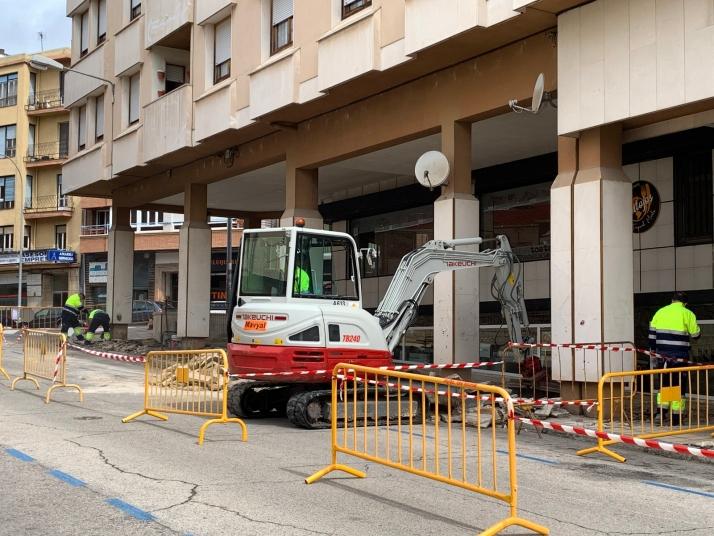 Foto 1 - Soria amplía su zona adoquinada