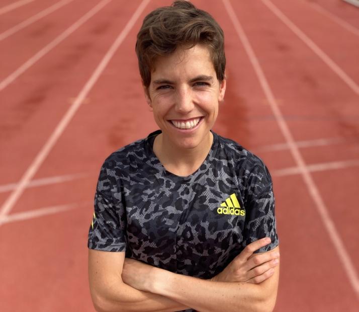 Marta Pérez durante uno de sus entrenamientos en Madrid.